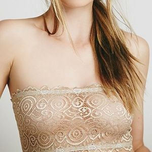 Free People Seamless and Lace Bandeau Nude